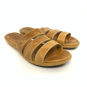 Olukai Manana light brown leather sandals